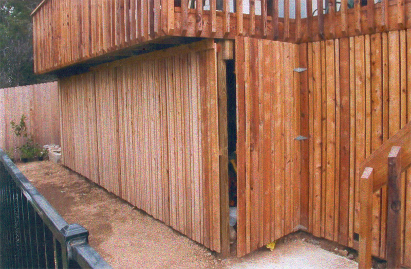 deck and storage shed